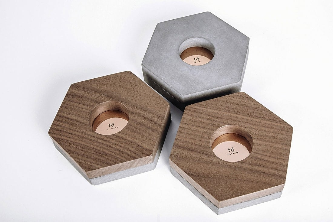 Minimalist home accessories - Tealight Holders MTH2S - Minshape