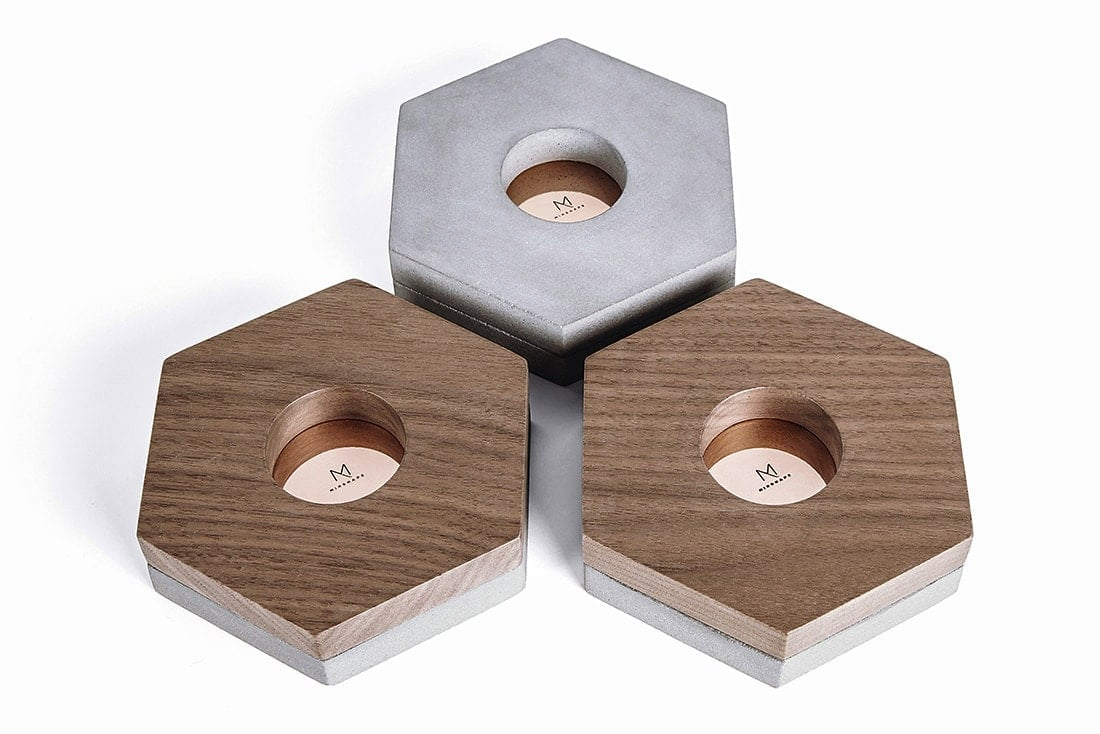 Minimalist home accessories - Tealight Holders MTH2S - Minshape